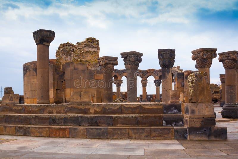 l'armenia Zvartnots! fotografia stock libera da diritti
