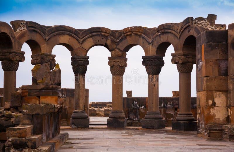 l'armenia Zvartnots! immagini stock libere da diritti