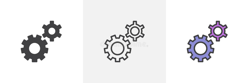 L'arrangement embraye l'icône illustration stock
