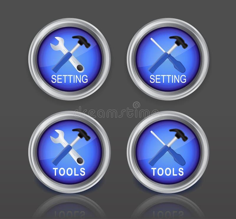 L'arrangement se boutonne coloré illustration stock