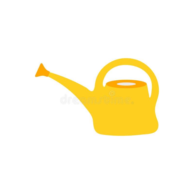L'arrosage peut diriger l'icône d'isolement Outil de jardin dans le style de bande dessin?e illustration stock
