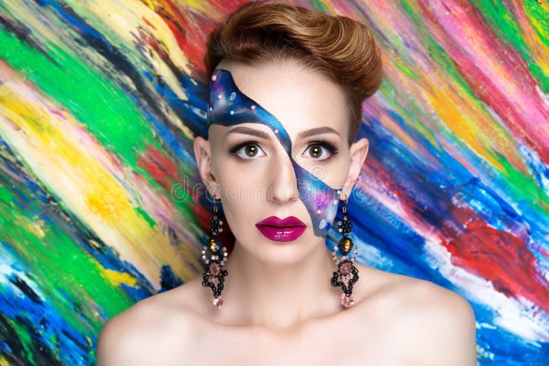 L'art bleu de femme composent photo libre de droits