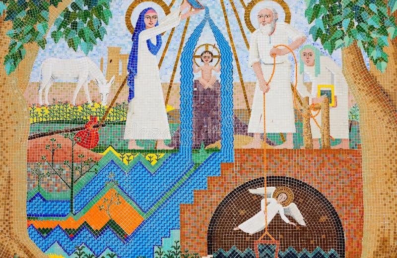 L'art chrétien antique de mosaïque image stock