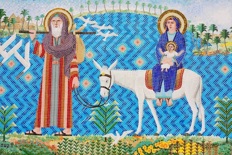 L'art chrétien antique de mosaïque photographie stock