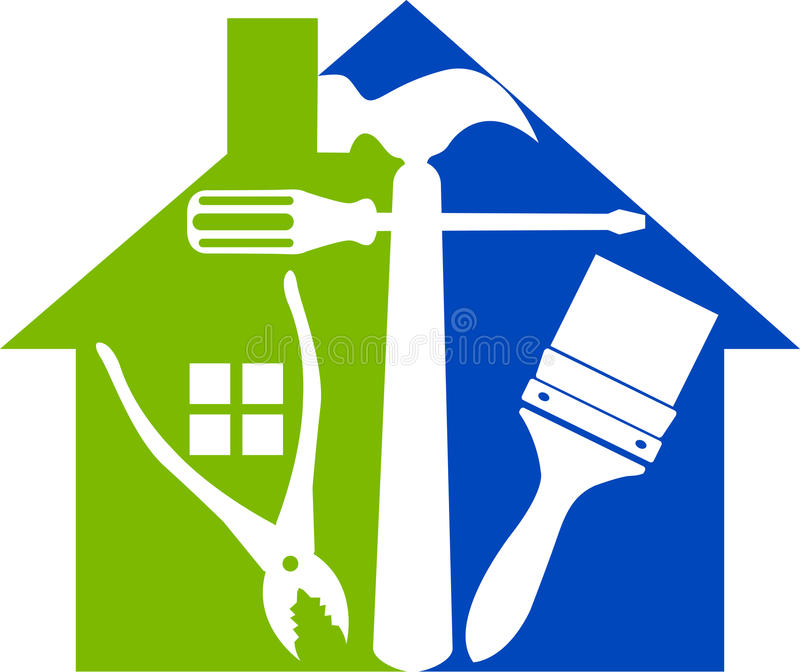 La maison usine le logo illustration libre de droits