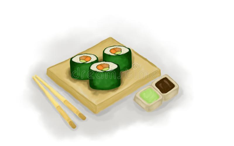 L'art d'illustration de sushi illustration stock