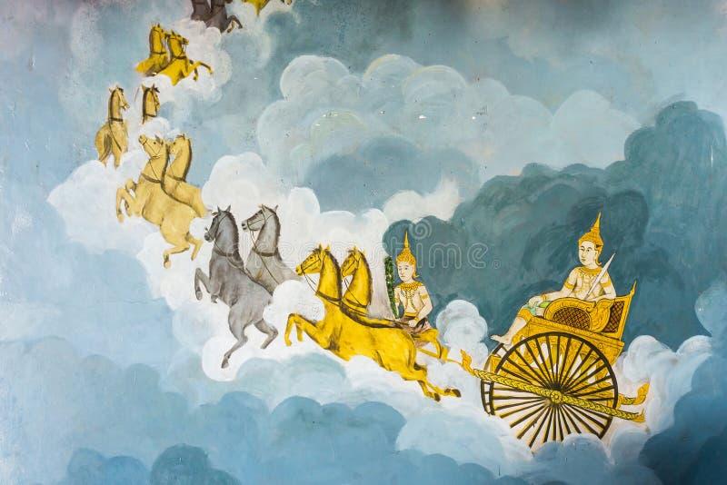 L'art de religion de vintage de la peinture murale images stock