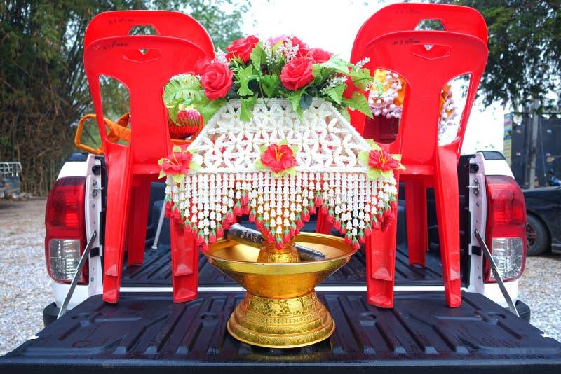L'art de ruban et de papier a inséré l'argent à l'intérieur dans thaïlandais photos libres de droits