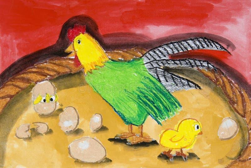 L'art des enfants - animaux de ferme illustration stock
