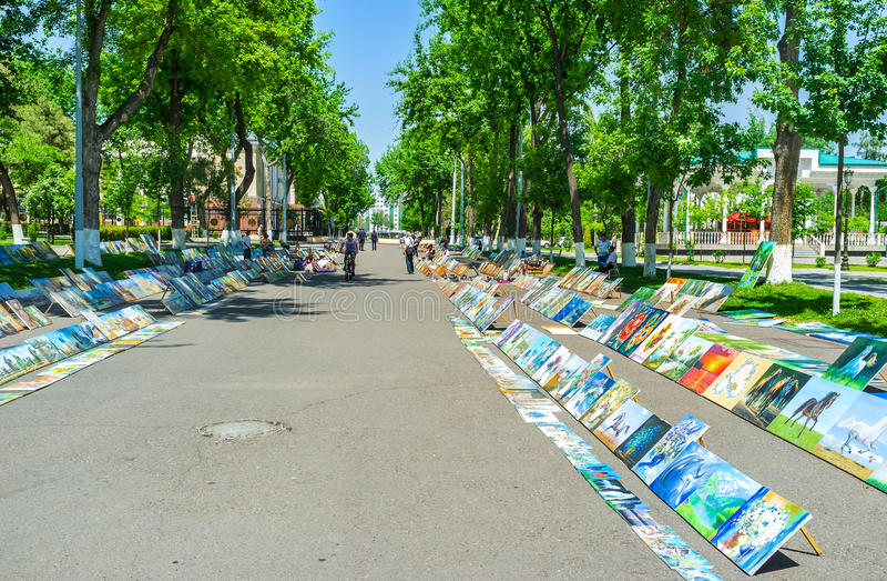 L'art juste à Tashkent photos libres de droits