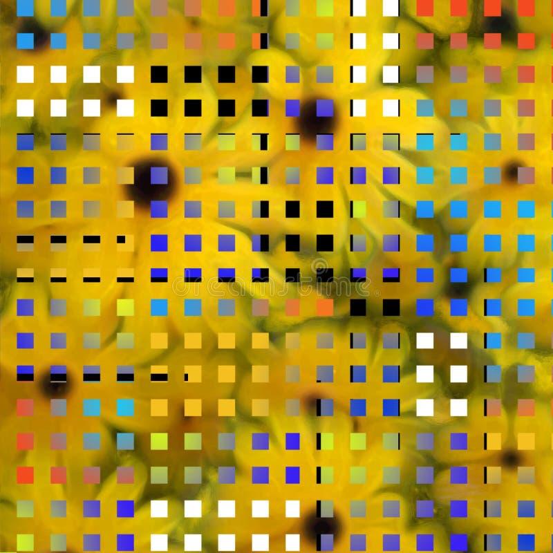 L'art moderne a inspiré la composition illustration de vecteur