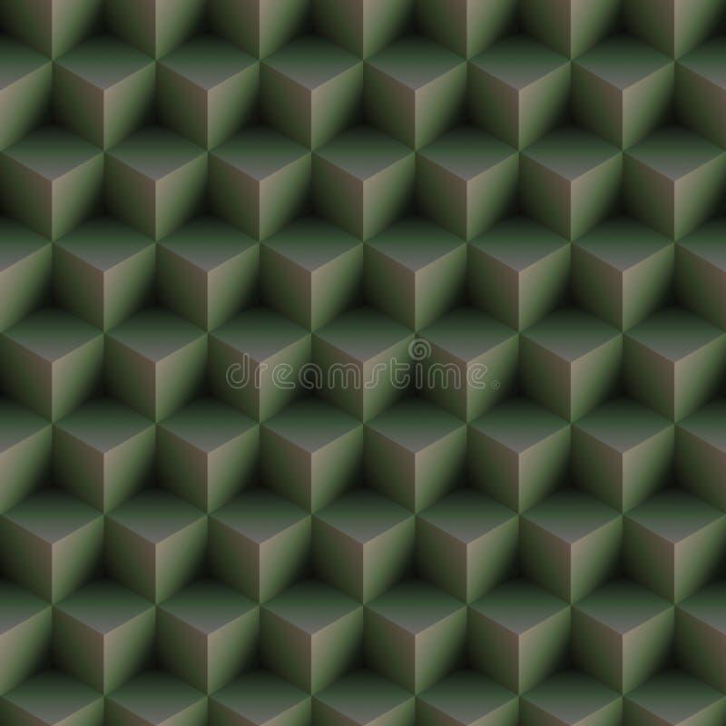 L'art op cube sans joint vert de configuration illustration libre de droits