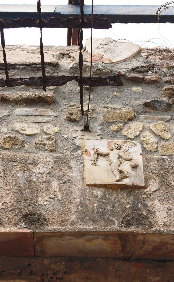 L'arte antica ha ristabilito IV - Ercolano - l'Italia immagini stock libere da diritti