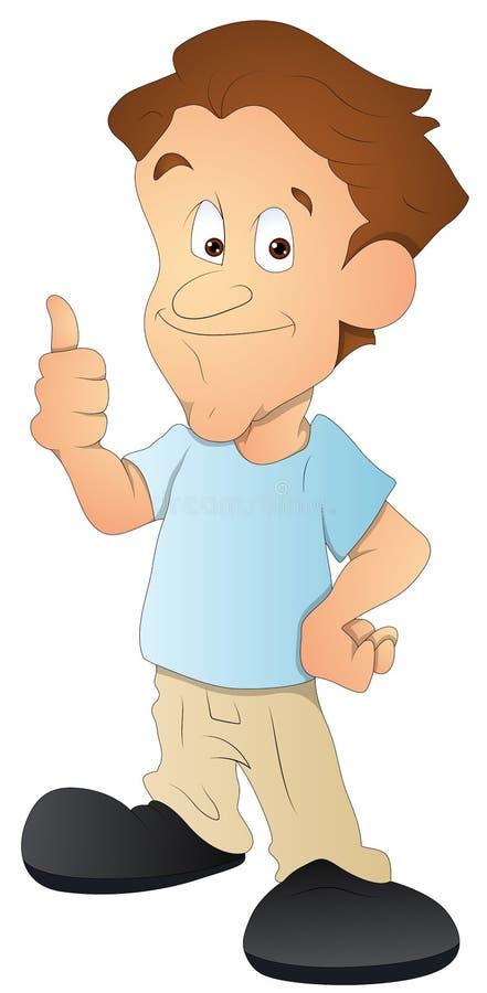 Uomo personaggio dei cartoni animati illustrazione di