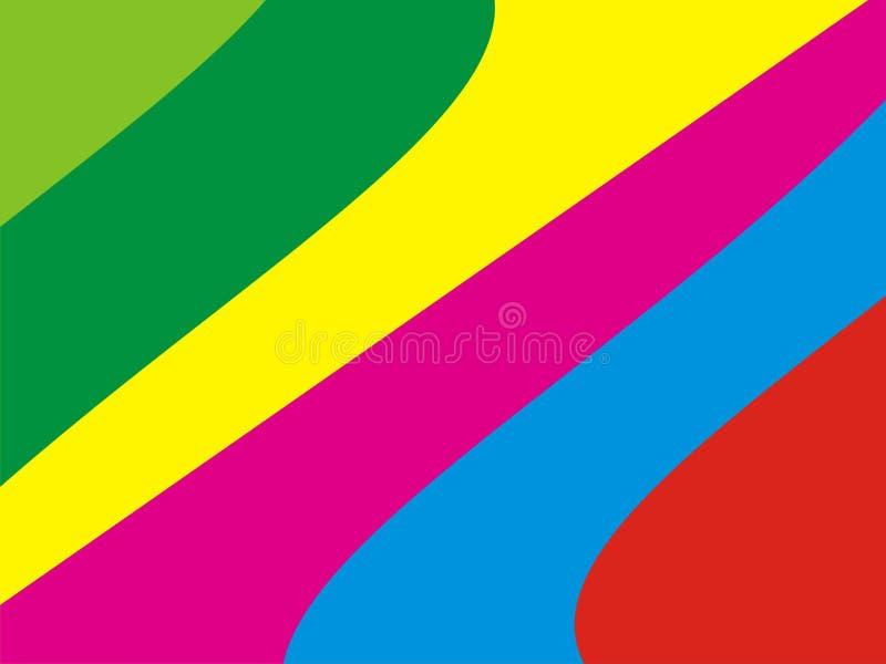 L'arte della carta da parati del colorfull dell'arcobaleno royalty illustrazione gratis