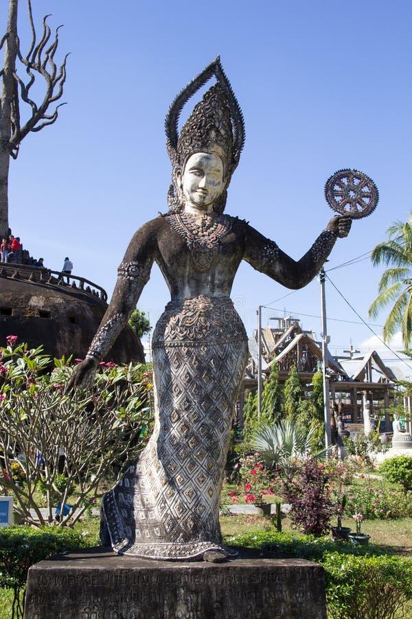 L'arte di buddismo Abbondanza delle statue di Buddha nel parco di Buddha, laotiano PDR di Vientiane fotografia stock