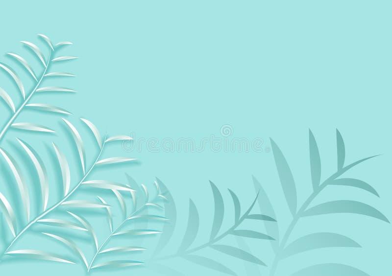 L'arte di carta nel vettore dell'estratto di stile 3d ha tagliato il fondo Linea progettazione della copertura dell'onda per la c illustrazione vettoriale
