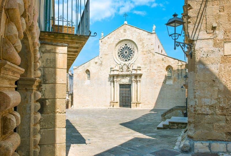 L'arte ed il mare di Otranto immagine stock