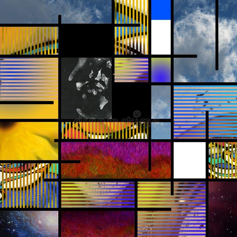 L'arte moderno ha basato l'estratto illustrazione vettoriale