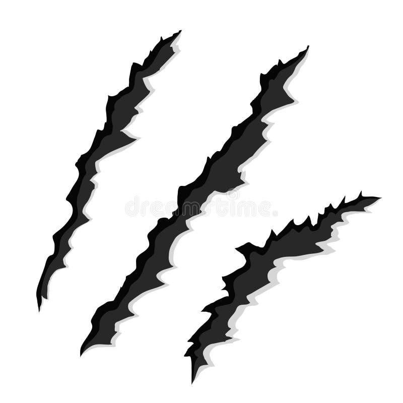 L'artiglio graffia su Libro Bianco, illustrazione di vettore, eps10 illustrazione vettoriale