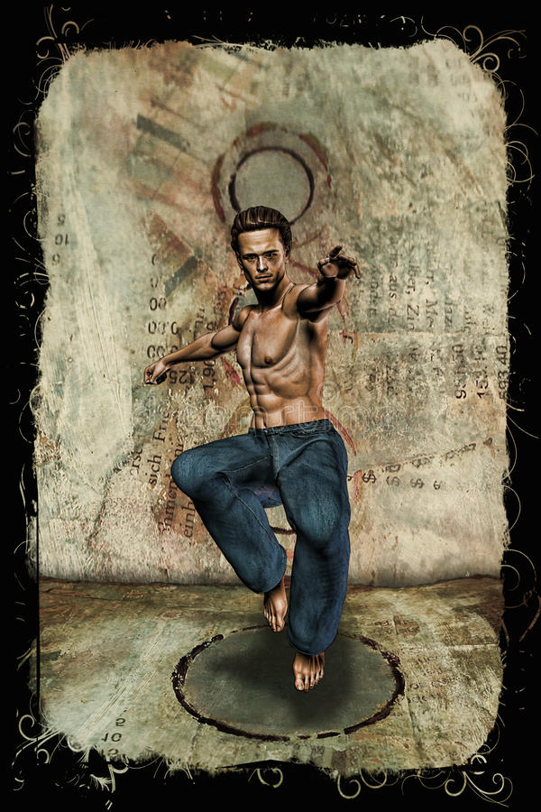 L'artiste martial illustration libre de droits