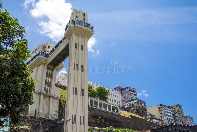 L'ascenseur d'Elevador Lacerda dans Salvador font le Bahia photo libre de droits