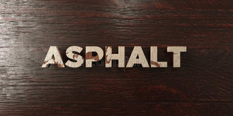 L'asfalto - titolo di legno grungy sull'acero - 3D ha reso l'immagine di riserva libera della sovranità royalty illustrazione gratis