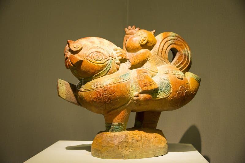 L'Asia Cina, Pechino, Cina Art Museum, piebald di Œhuge del ¼ di Sculptureï fotografia stock libera da diritti