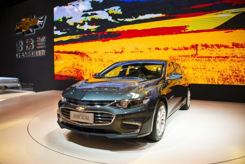 L'Asia Cina, Pechino, mostra dell'automobile dell'internazionale 2016, centro espositivo dell'interno, Chevrolet, Mai Rui Bao XL immagini stock libere da diritti