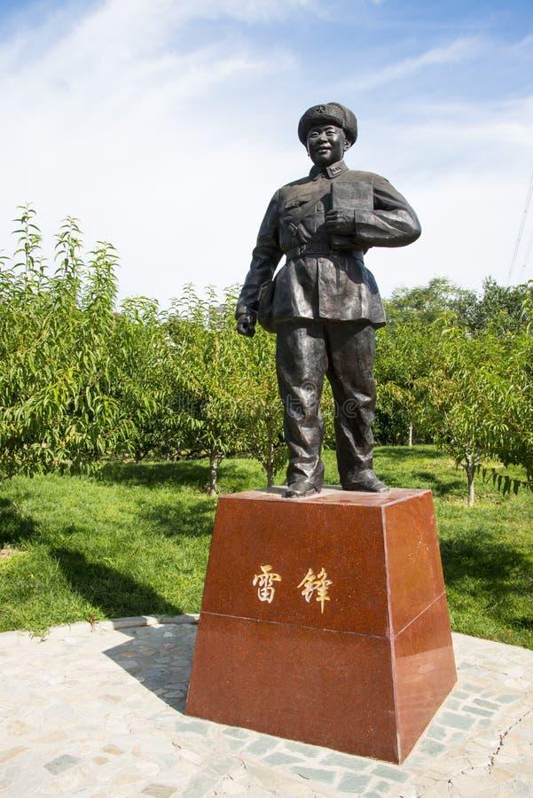 L'Asia Cina, Pechino, parco del xinglong, scultura della celebrità, Lei Feng fotografie stock libere da diritti