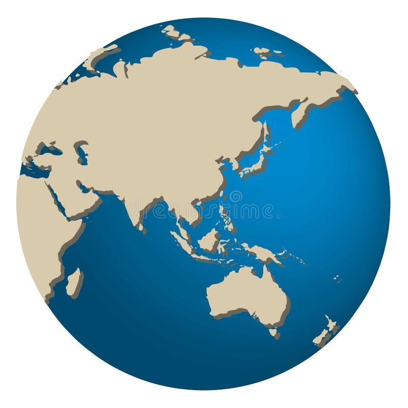 L'Asia e l'Australia royalty illustrazione gratis