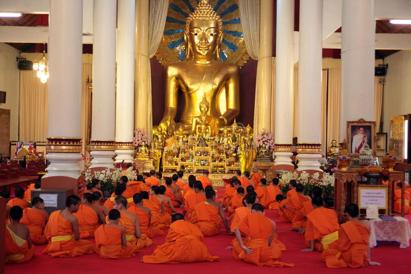 L'ASIA TAILANDIA CHIANG MAI WAT PHRA CANTA fotografia stock