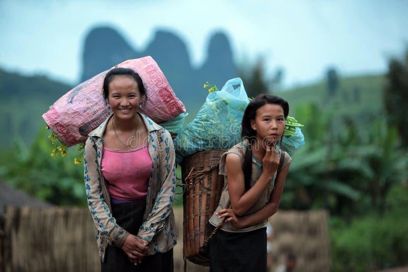 L'ASIE ASIE DU SUD-EST LAOS VANG VIENG LUANG PRABANG image libre de droits