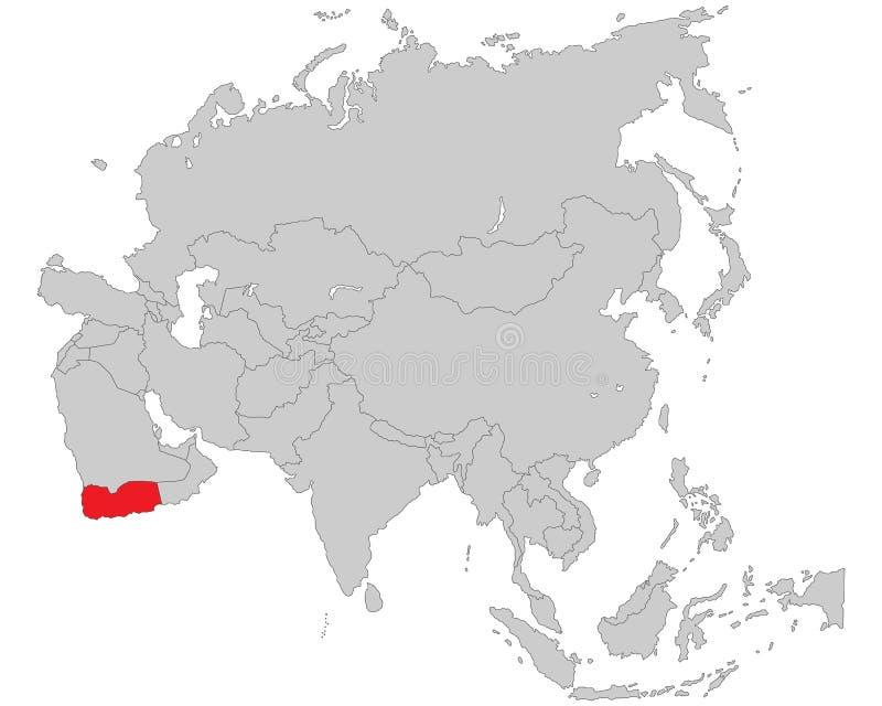 L'Asie - carte politique de l'Asie illustration libre de droits