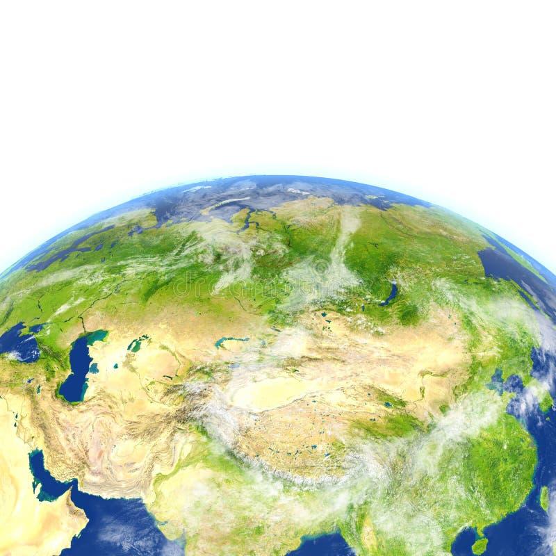 Download L'Asie Centrale Sur Terre De Planète Illustration Stock - Illustration du région, porcelaine: 87700275
