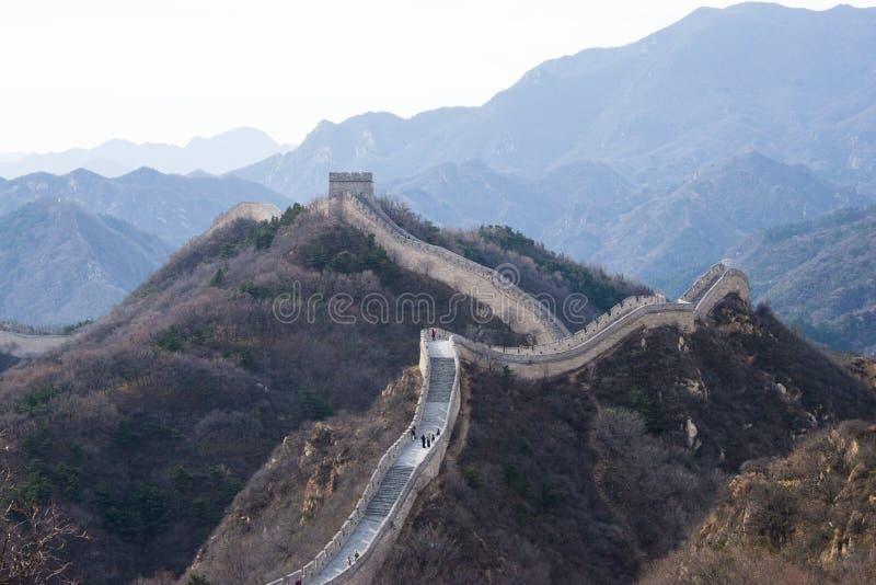 L'Asie Chine, Pékin, bâtiments historiques, badaling la Grande Muraille photo libre de droits