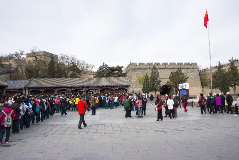 L'Asie Chine, Pékin, bâtiments historiques, la Grande Muraille photographie stock libre de droits