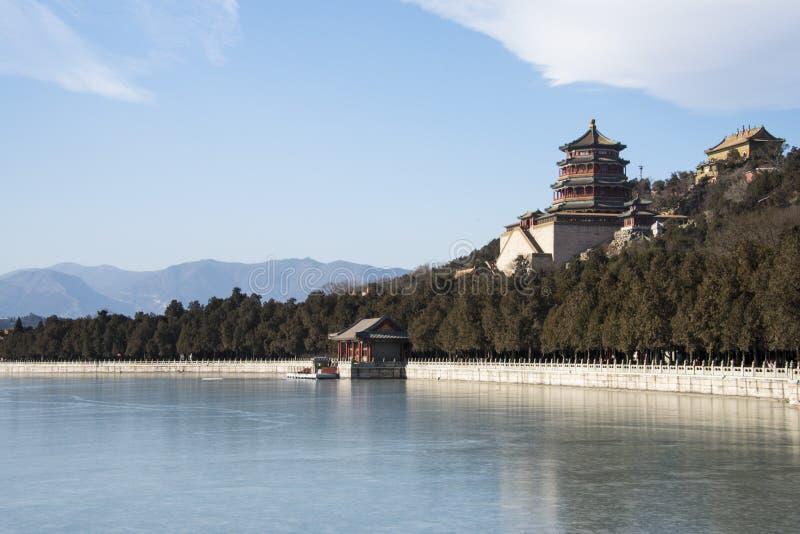 L'Asie Chine, Pékin, le palais d'été, la construction de jardin botanique, encens de Bouddha photo stock