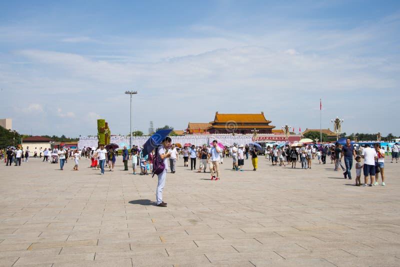 L'Asie Chine, Pékin, Place Tiananmen, l'estrade de Tiananmen photo libre de droits