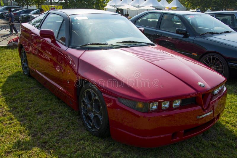 L'Asie Chine, Pékin, salon automobile classique, voiture d'Alfa Romeo SZ photographie stock
