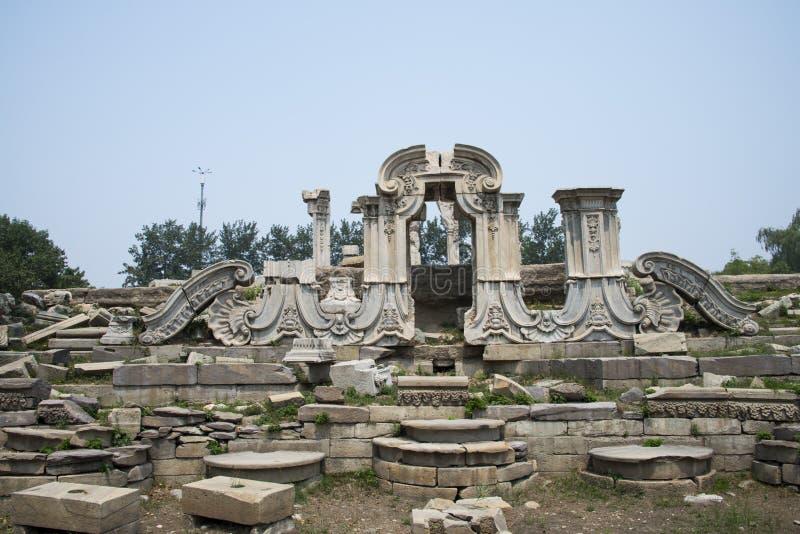 L'Asie Chine, Pékin, vieux palais d'été, ruines, secteur de construction occidental, photo stock