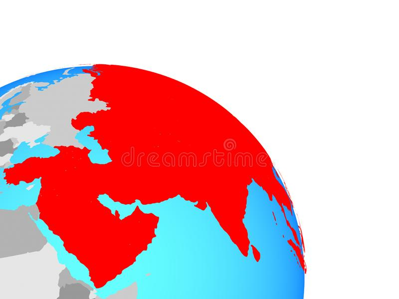 L'Asie sur le globe illustration stock