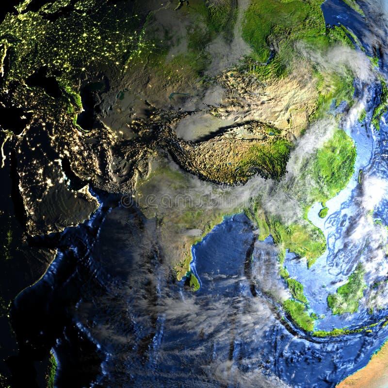 Download L'Asie Sur Terre - Fond Océanique évident Illustration Stock - Illustration du illustration, asie: 87700889