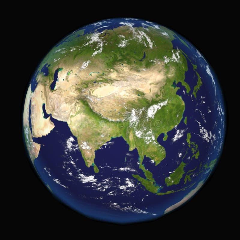 L'Asie vue des éléments d'illustration de l'espace 3d de cette image meublés par la NASA illustration libre de droits