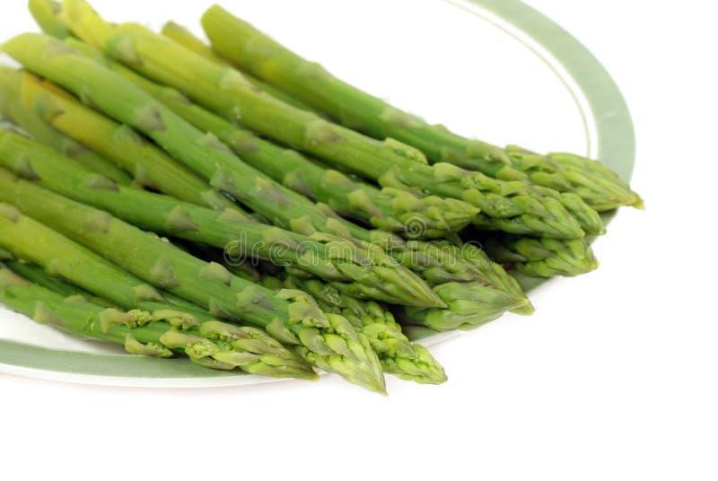 l'asparago ha cucinato fotografie stock libere da diritti