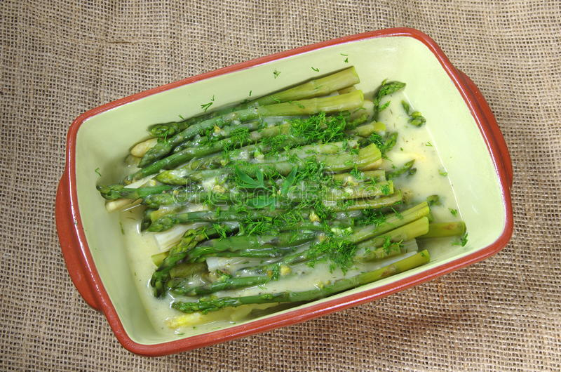 L'asparago soup immagine stock