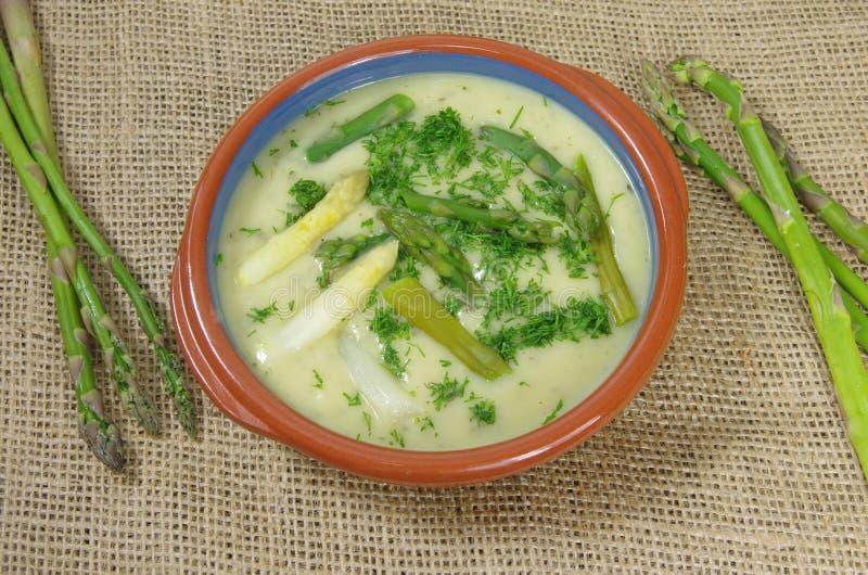 L'asparago soup fotografia stock libera da diritti