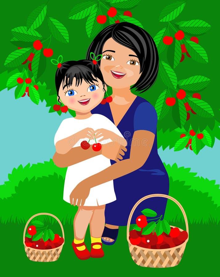 L'assistente della mamma illustrazione vettoriale