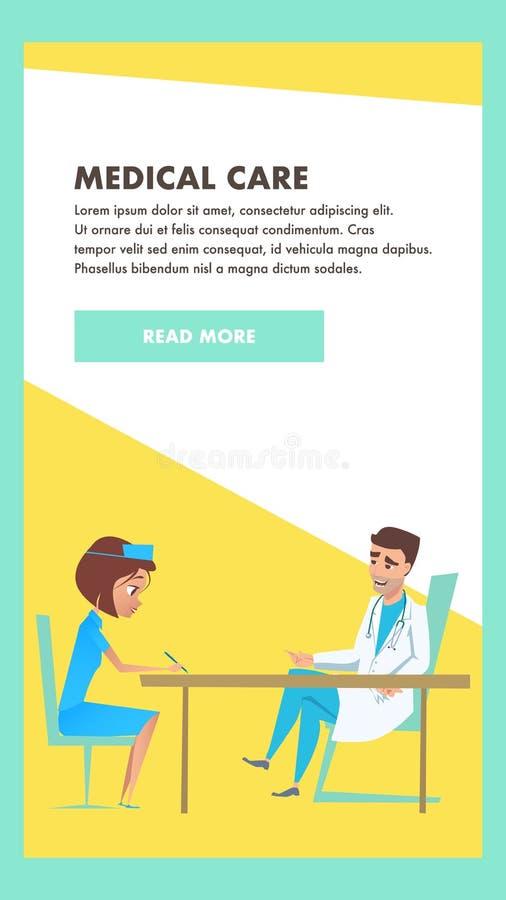 L'assistenza medica si consulta Insegna dell'esame dell'ospedale royalty illustrazione gratis