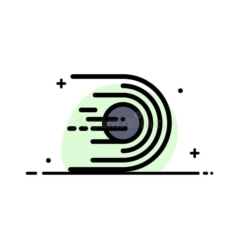 L'asteroïde, comète, vol, lumière, ligne plate d'affaires de l'espace a rempli calibre de bannière de vecteur d'icône illustration stock
